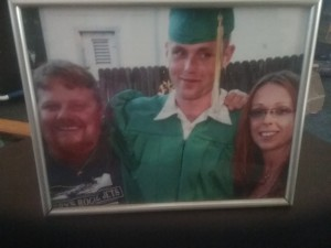 Robert Buracker, Grandson Justin Dane Buracker, with Mother Liz, husband Bill